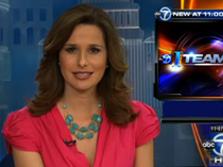 ABC Channel 7's Alison Starling wearing Chalcedony Messy Chain Double-Strand necklace