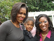Michelle Obama with Noelle and Maimah Karmo