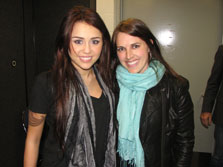 Miley Cyrus with Sarah Fraser
